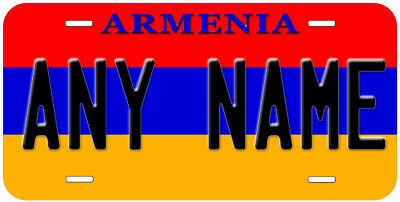 Armenia Flag Aluminum Novelty Car License Plate