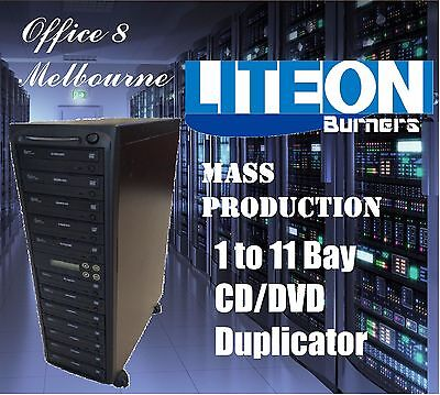 BRAND NEW 1 to 11 CD DVD Duplicator Tower LiteOn Burner Mass Production