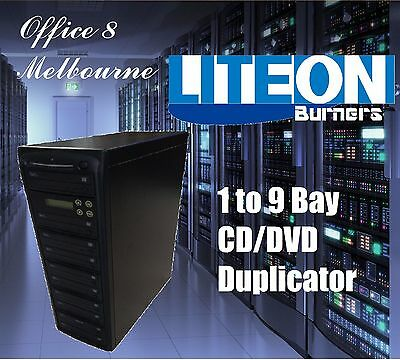 BRAND NEW 1 to 9 CD DVD Duplicator Tower LiteOn Burners 9 Bay CD DVD Duplicator
