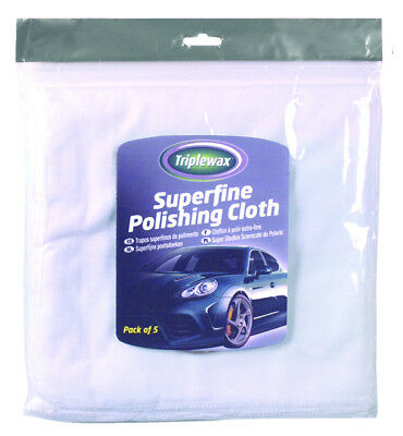 Triplewax Superfine Polishing Cloths (5 Pack) Car Cleaning & Valeting CTA143