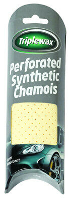 Triplewax Perforated Synthetic Chamois Leather CTA155 Car Cleaning Shammy cloth