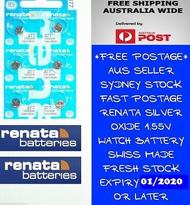 6 PCS Renata SR626SW 377 1.55V Silver Oxide Battery for Watch Swiss Made
