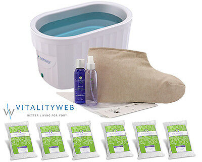 NEW Therabath Professional Paraffin ThermoTherapy Heat Bath + Foot Kit ComforKit