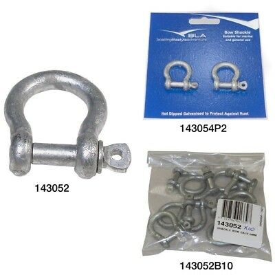 BLA Bow Shackle - Galvanised 143052 Qty: 1 Pin Dia.: 5mm / 3/16 inch