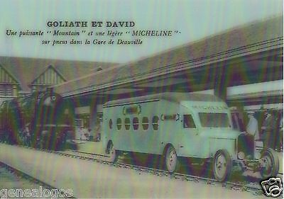 Cpa Carte Postale Atlas 3D Goliath & David Micheline 1931 Type 5 Train Michelin
