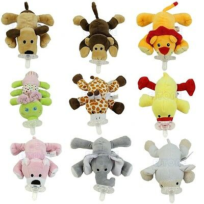 New Funny Infant Baby Toddler Child Animal Dummy Pacifiers Orthodontic Nipples