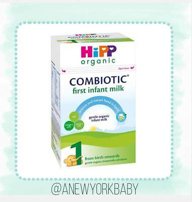 4 Boxes HiPP Organic Combiotic First Infant Milk - Stage 1 UK Version - 800g