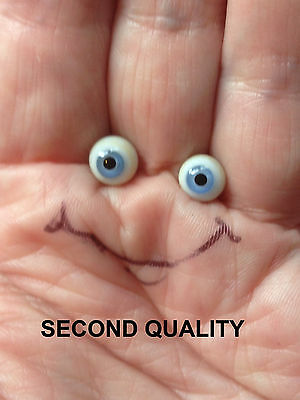 M00584 MOREZMORE SECONDS Glass Eyes 4 mm BLUE Small Miniature OOAK Doll Goblin