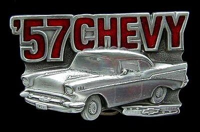 Nice 57 Chevy Belt Buckle Buckles Licensed New!