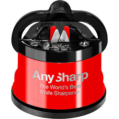 Knife Sharpener AnySharp Classic RED World's Best 100% Genuine
