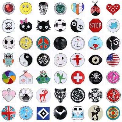 Punk Rhinestone Charms Chunk For Snap Button Fit Bracelet Necklace Jewelry Gift