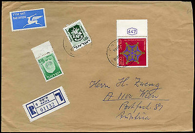 Israel 1970's Registered Cover To Austria #C22437