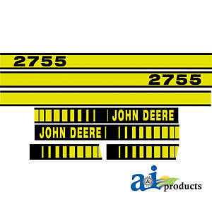 John Deere Parts DECAL SET HOOD  JD2755 2755