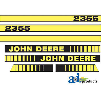 John Deere Parts DECAL SET HOOD  JD408 2355
