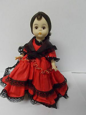Madame Alexander Spanish Doll Red Dress  Black Lace
