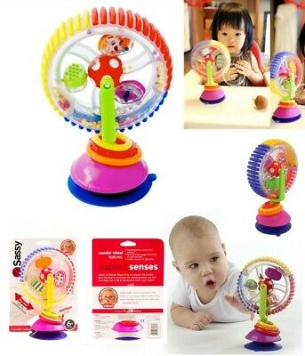 Baby Kid Toy Rainbow Observe Ferris Wheel Rattle Clanking Suction High Chair Toy