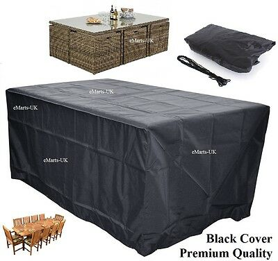 Waterproof Garden Patio Furniture Cover Rectangular Outdoor Rattan Table Cover