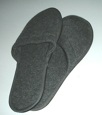 Sferra Cashmere Slippers Charocoal Grey One Size Hard Sole Travel Collection New