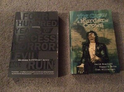 Pair of Books w/ The Crow A Murder of Crows & Gothic 400 Hundred Years of Horror