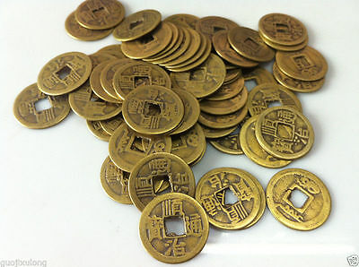 Collect 25pcs Chinese Bronze Coin China Old Dynasty Antique Currency Cash