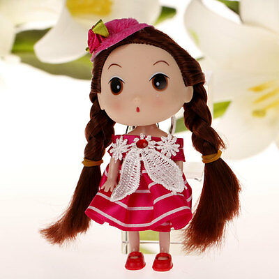Flower Hat Korea Ddung Cell Phone Backpack Keychain Girls Party Gift 12CM A31