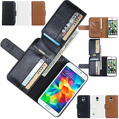 Luxury Leather 6 Card Slots Magnetic Wallet Stand Flip Case Cover Man For iPhone