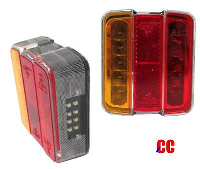 12v 5 function LED rear tail light lamps cluster boat trailer board caravan tow
