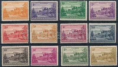 Norfolk Islands stamp 12 diff definitive values Hinged 1947 WS173588