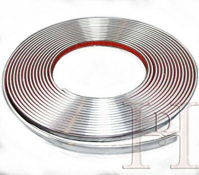 15meters*10mm Chrome Car Styling Moulding Strip Trim Self-Adhesive Fits Most Car