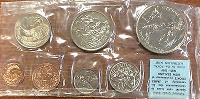 1969 new Zealand 7 coin unc year set