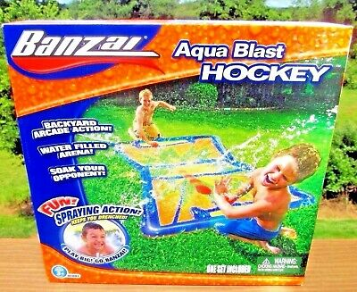 BANZAI AQUA BLAST HOCKEY Water Mat NIB outside sports sprinkler spray toy BDay