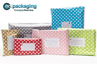 Printed Polka Dot Mailing Bags Strong Self Seal Strip