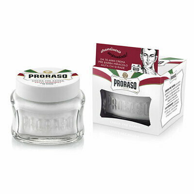Proraso Pre & Post Shaving Cream for Sensitive Skin 100ml White