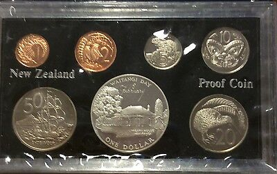 1977 new Zealand 7 coin proof year set