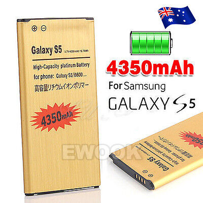 AU Stock Golden 4350mAH for Samsung Galaxy S5 Battery Replacement G900 i9600
