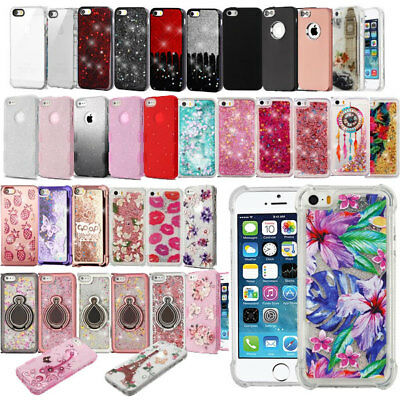 For Apple iPhone SE 5S 5 Silicone Glassy Transparent Clear Gummy Soft Case Cover