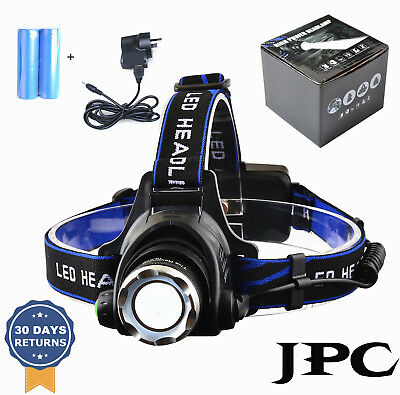 2017 - New 9000LM CREE XML T6 LED Rechargeable HeadLamp Torch HeadLight 18650 AU
