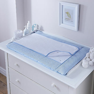 New Clair De Lune Waffle Blue Padded Baby Boys Changing Mat With Cover