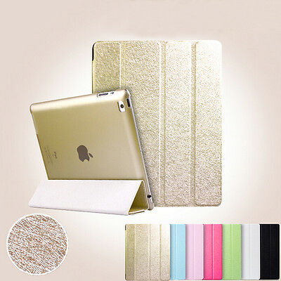 Smart Stand Magnetic Leather Case Back Cover For APPLE iPad Air 4 3 2 Mini Wake