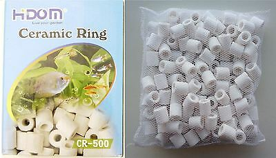 Hidom Ceramic Bio Filter Rings Media Net Bag Aquarium Fish Tank 500g-2Kg