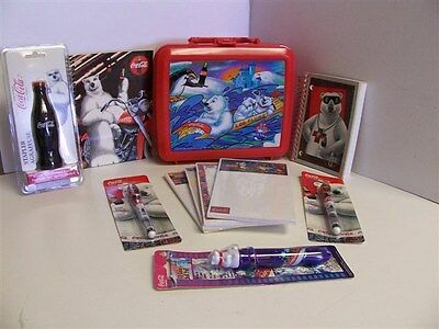 Coca-Cola Plastic Collector Lunchbox With 10 Collectible Items Inside