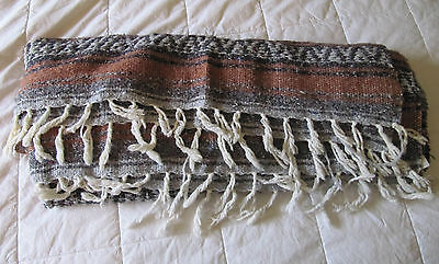 "Collectible Jfr Textiles Mexico Large Woven Blanket Throw 70"" X 50"""