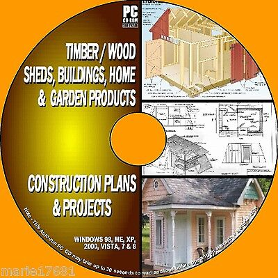 1000+  Diy Wood Plans & Projects Wooden Sheds Cabins Play & Wendyhouses Pccd New