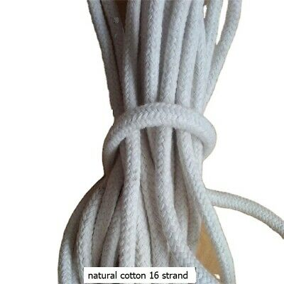 Cotton Rope Cord Sash Washing Clothes Line Pulley 16 Strand 3-10mm