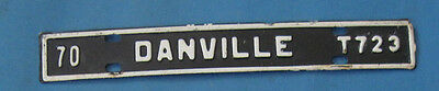 1970 Danville license plate from Virginia