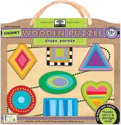 Green Start Shape Parade Chunky Wooden Puzzle by Innovative Kids Hardcover Book