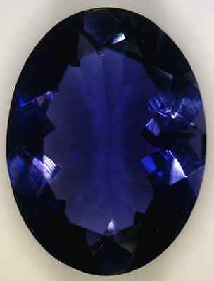 Natural Finest Deep Purple Blue Iolite - Oval - Sri Lanka - Top Tanzanite Color