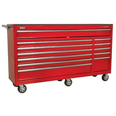 Sealey Heavy-Duty Rollcab 12 Drawer With Ball Bearing Runners - Red - AP6612