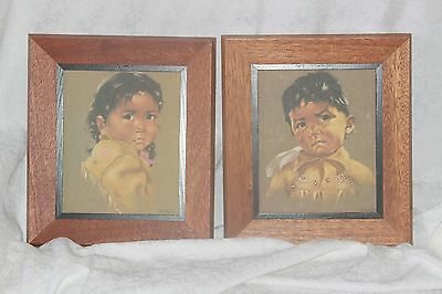 2 Paintings Of Indian Boy And Girl Signed  Dorothy Oxborough