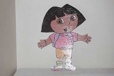 Large Dora Wall Hanging Wooden Painted Colorful